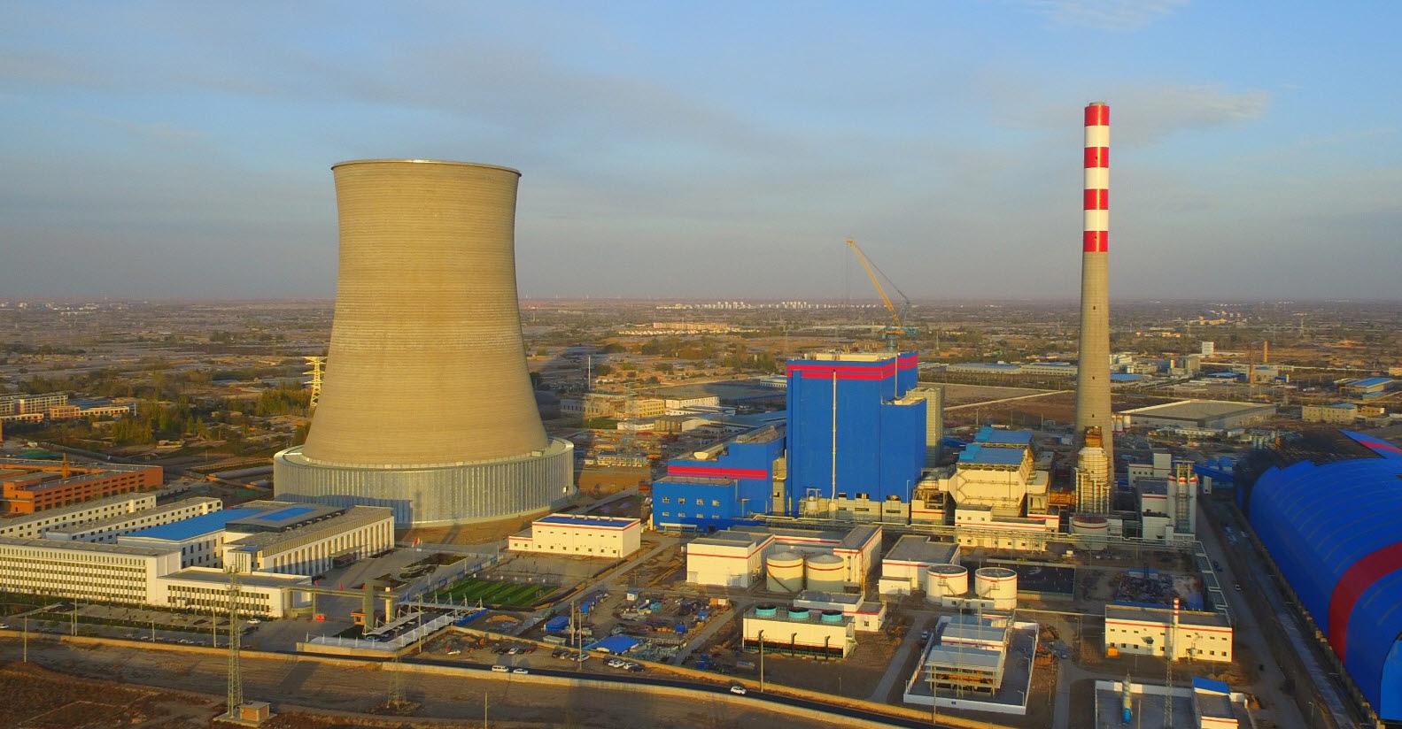 '중국 우웨이 석탄 열병합 발전소' 전경